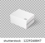 closed parcel icon vector on... | Shutterstock .eps vector #1229268847