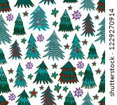 vector christmas seamless... | Shutterstock .eps vector #1229270914