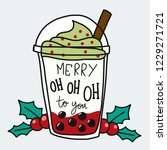 merry oh oh oh to you word and... | Shutterstock .eps vector #1229271721