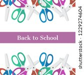 back to school frame pattern... | Shutterstock .eps vector #1229274604