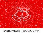 christmas bells. golden sign... | Shutterstock .eps vector #1229277244