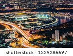 view of the night city streets. ... | Shutterstock . vector #1229286697