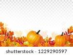 happy thanksgiving background... | Shutterstock .eps vector #1229290597