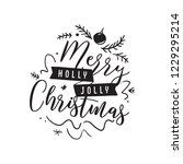 merry christmas. typography.... | Shutterstock .eps vector #1229295214
