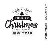 merry christmas. typography.... | Shutterstock .eps vector #1229296174