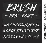 hand drawn font made by ink... | Shutterstock .eps vector #1229301121