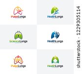 set of health lungs logo... | Shutterstock .eps vector #1229305114