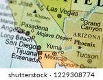 Mojave Desert. Usa On A...