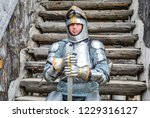 knight in the armor on the... | Shutterstock . vector #1229316127