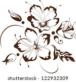 Stock vector floral design vector illustration 122932309