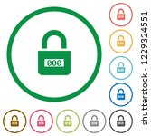 locked combination lock with... | Shutterstock .eps vector #1229324551