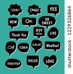 vector bubbles speech set. hand ... | Shutterstock .eps vector #1229326864