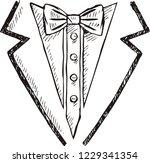 doodle of tuxedo with bow tie | Shutterstock .eps vector #1229341354