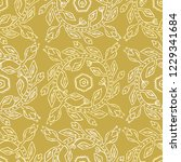 1950s style retro flower wreath ... | Shutterstock .eps vector #1229341684