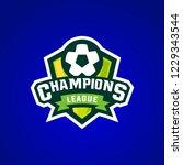 champions league sport logo... | Shutterstock .eps vector #1229343544
