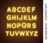 the english alphabet capital... | Shutterstock .eps vector #1229347147