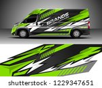 cargo van decal  truck and car... | Shutterstock .eps vector #1229347651