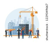 construction engineer cartoon   Shutterstock .eps vector #1229349667
