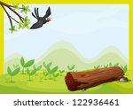 Illustration Of A Flying Bird...