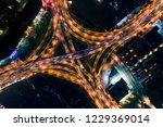 nanjing overpass night aerial... | Shutterstock . vector #1229369014