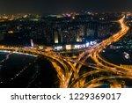 nanjing overpass night aerial... | Shutterstock . vector #1229369017