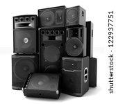 Group Of Speakers  Loud Or...