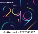2019 happy new year abstract... | Shutterstock .eps vector #1229380597