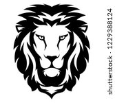 illustration of lion with black ... | Shutterstock .eps vector #1229388124