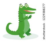 a cute crocodile dancing with... | Shutterstock .eps vector #1229388277