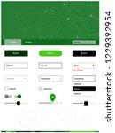 dark green vector wireframe kit ...