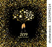 happy new year 2019  vintage... | Shutterstock . vector #1229394214