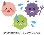 good bacteria  bad bacteria and ... | Shutterstock .eps vector #1229402731