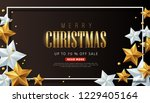 merry christmas sale background ... | Shutterstock .eps vector #1229405164