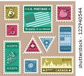 vector set of various vintage... | Shutterstock .eps vector #122940544