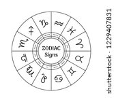 zodiac circle with astrological ... | Shutterstock .eps vector #1229407831