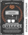 coffee retro poster  vector... | Shutterstock .eps vector #1229424664