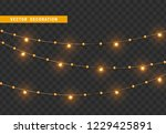 christmas decorations  isolated ... | Shutterstock .eps vector #1229425891