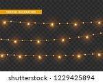 christmas decorations  isolated ... | Shutterstock .eps vector #1229425894
