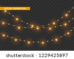 christmas decorations  isolated ... | Shutterstock .eps vector #1229425897