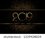 happy new year 2019 background. ... | Shutterstock .eps vector #1229428024