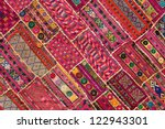 Indian Patchwork Carpet In...