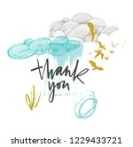 thank you card with beautiful... | Shutterstock .eps vector #1229433721