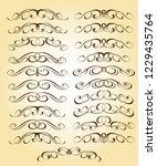 set calligraphic design... | Shutterstock .eps vector #1229435764