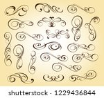 design elements. vector... | Shutterstock .eps vector #1229436844