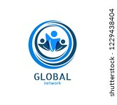 global network logo. connection ... | Shutterstock .eps vector #1229438404