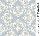 vintage seamless damask pattern.... | Shutterstock .eps vector #1229440261