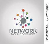 network  logo template   Shutterstock .eps vector #1229443084