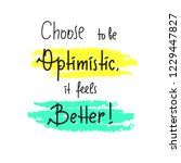 choose to be optimistic it... | Shutterstock .eps vector #1229447827