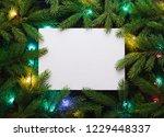 christmas card for advertising... | Shutterstock . vector #1229448337