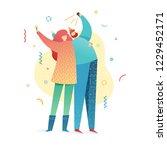 design happy new year... | Shutterstock .eps vector #1229452171